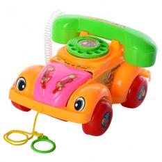 Каталка 081 A машинка-телефон, в кульку