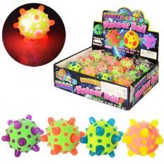 М'яч дитячий MS 0741 гума, 7см, в кульку, світло, мікс кольорів, на бат-ке, 12шт в дисплеї