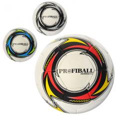 М'яч футбольний PROFIBALL 2500-12ABC (30шт) розмір 5, ПУ 1,4мм, 4 шари, 32 панелі, 400-420г, 3цвета