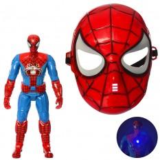 Набір супергероя 230-MJ-1D (36шт) СП, маска, фігурка-світло, бат (таб), в кульку, 16-33-8см