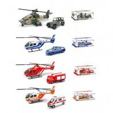 Набір транспорту 1817B-1ABCD (72шт) метал, вертоліт 13см, машинка 8см, 4 види, в коробці, 22-10,5-8,5см