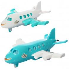 Літак 890-8-10 (240шт) 16,5 см, на запуск, 2 кольори, в кульку, 12-16-5см