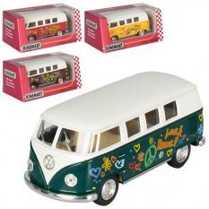 Автобус KT 5060 WF KINSMART метал, інер, 1: 32,13см, з малюнк, откр.дв, рез.кол, 4цвета, в кор-ке