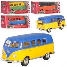 Машинка KT5060WM KINSMART (24шт) метал, інер-я, мікроавтобус, 13см, 1: 32, рез.колес, 4цв, ета, в кор-ке