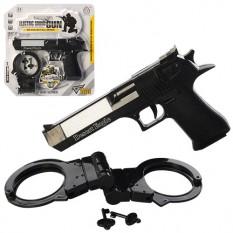 Набір військового HY076 (144 шт) пістолет, звук, світло, лазер, наручники, на бат-ке, в слюди, 25-26-3см