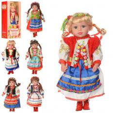 Лялька M 1191-W-N (24шт) Україночка, м'яконабивна, 47 cм, музика (укр. Пісня), 6 видів, на батарейках (таб.), В розібраному