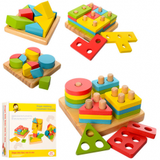 Дерев'яна іграшка MD 1191 Геометричний, в коробці