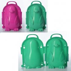 Снежколеп MS 1269 (120шт) пінгвін, 19 см, 3D, чемодан, 2 кольори, 16-11,5-22 см