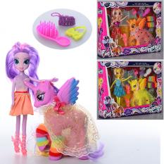 Лялька SM 1015 (18шт) LP, 23см, конячка з крилами в коробці