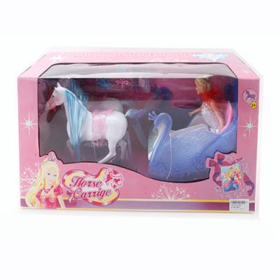 Карета 8603 конячка, лялька,  акссесуары,  в кор-ке