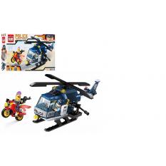 Конструктор BRICK 1905b поліція, вертоліт, мотоцикл, в кор-ке