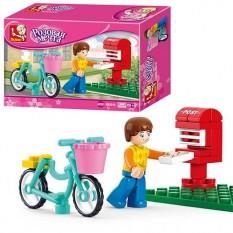 Конструктор SLUBAN M38 - B0516 фігурка, велосипед, поштова скринька, 29 подітий