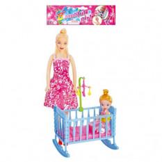Лялька 339-2 з ліжечком, 2 шт в кульку