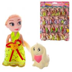 Лялька 555 C з твариною, в кульку, 24 шт на листі