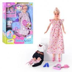 Лялька DEFA 8009 вагітна, з одягом, 2 дитина, в кор-ке