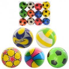 М'яч дитячий фомовый MS 0388  2,5 дюйма,(12шт) в кульку