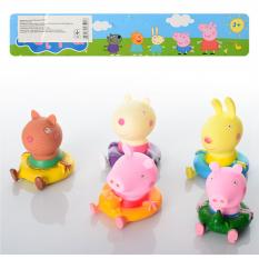 """Набір фігурок PP 6039 A """"Peppa Pig"""", для купання, пискавка, 5 шт в кульку"""