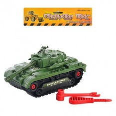 Танк 5424 B(96шт) конструктор, 22см, ключ, викрутка, в кульку, 21,5-18-10см