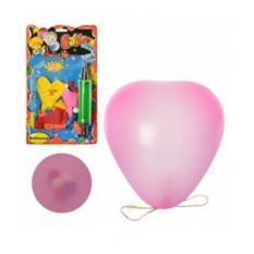 Кульки надувні MK 0017 серце, 8 шт, на листі