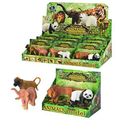 Тварини Q 9899-186m(1уп) диких, 3 види, 2шт в кор-ке, 14-10-7см, 42,5-21,5-10см