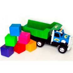 """Вантажівка Фарго 009/5 """"BAMSIK"""", кубики великі, 6 шт"""