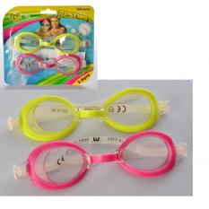 Очки для плаваня 21044 (36шт) от3до6рокiв,регул.переносна,сiлик.ремеш,2шт(цв)на листi,17-15-3см