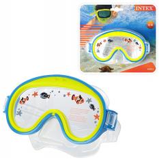 Маска для плавання 55911 (12шт) дитяча, від 3 до 8 років, 2 кольори, в слюді, 23-20-7см