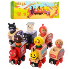 """Дерев'яна іграшка MD 0960 """"Потяг"""", на магнітах, в кор-ке"""