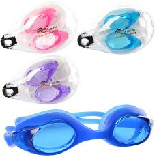 Окуляри для плавання MSW 014 (144шт) регульований ремінець, беруші, 4 кольори, в футлярі, 12,5-8-5см¶