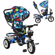 Велосипед M 3200-5A-D (1шт/ящ) три кол.рез (12/10), колясочні, поворот, перед.корзина, сумка, голуб.каплі¶