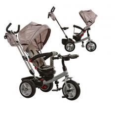 Велосипед M 3204HA-2 (1шт)три кол.,рез(12/10),поворот,швидкозьем.кол./руль,муз.стол,сумка,сiрий