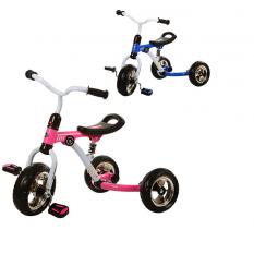 Велосипед M 3207-1 (2шт)три кол.EVA (10/8),с аморт.,швидкозн.кол.,2 цвета: рожевий,синiй