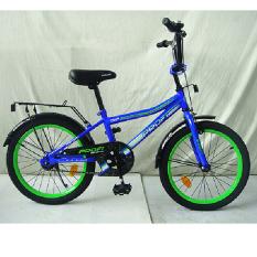 Велосипед детячий PROF1 20д. L20103 (1шт) Top Grade, синiй,зеркало,дзвiнок,пiднiжка