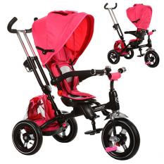 Велосипед M 3202A-1 (1шт/ящ) три кол., Гума (12/10), поворот, бистрос'ем.кол., Фікс.руля, дзвінок, рожевий¶