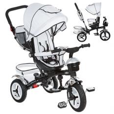 Велосипед M 3200-8A (1шт/ящ) три кол.рез (12/10), колясочні., Поворот, перед.корзина, сумка, звон.белий
