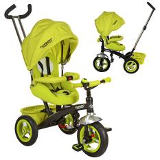 Велосипед M 3195-2A (1шт/ящ) три кол.рез (12/10) колясоч.поворот, фіксір.пед, рем.безоп., Торм.звон, зелений