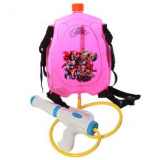 Водяний автомат M 3089 (24шт) с балоном на плечі, в кульці, 31-39-6см