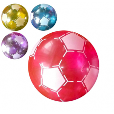 Мяч детячий MS 0929 (120шт) 9 дюймів,футбол, прозрачний, 75г, 4 кольори