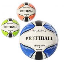 Мяч волейбольний 1105ABC (30шт) офиц.размір,ПУ,2слоя,18панелей,260-280г,3кольори