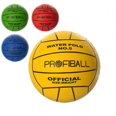 Мяч волейбольний VA 0034 (50шт) водне поло, офиц.размір, Profiball, 380-400г, 4 кольори
