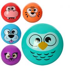 Мяч детячий MS 0469 (120шт) 9 дюймів, одностікерний, 5 видів (звірі)