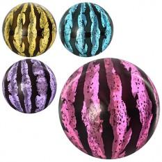 Мяч детячий MS 0923 (250шт) 6 дюймів, арбуз, прозрачний, ПВХ, 45г, 4 кольори