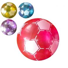 Мяч детячий MS 0924 (250шт) 6 дюймів, футбол, прозрачній, ПВХ, 45г, 3 кольори