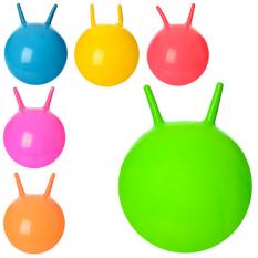 Мяч для фитнеса MS 0938 (25шт) с рожками, 38см, 310г, 6 кл, в кульке,16-15-3см