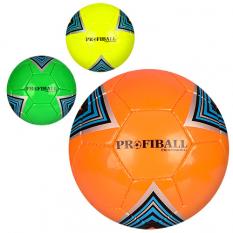 Мяч футбольний 3000-10ABC (30шт) размір5,ПУ1,5мм,4слоя,32панелі,400-420г,3кольори,в кульці