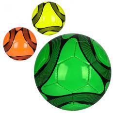 Мяч футбольний 3000-11ABC (30шт) размер5,ПУ1,5мм,4слоя,32панелі,400-420г,3кольори, в кульці