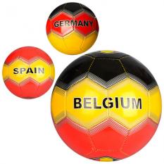 Мяч футбольний EN 3241 (30шт) размір 5, ПВХ 1,6мм, 300-320г, 3 види, в кульці