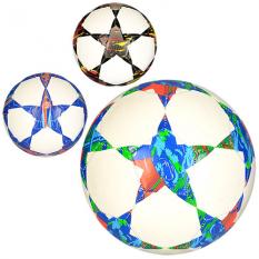Мяч футбольний EN 3243 (30шт) размір 5, ПВХ 1,6мм, 300-320г, 3кольри,в кульці