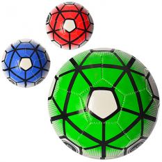 Мяч футбольний EN 3244 (30шт) размір 5, ПВХ 1,6мм, 300-320г, 3 кольори