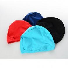 Шапочка для плавання MS 1019 (144шт) ткань, 21-15см, 4 кольори, 9-17-1см, в кульку